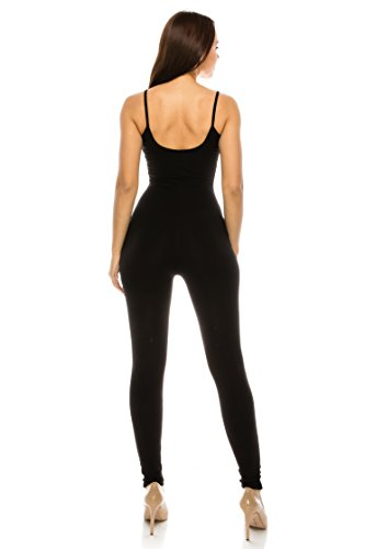 067e97fffd CNC STYLE Women Active Plus n Regular Cotton Stretch Tank Spaghetti Strap  Catsuit One Piece Yoga