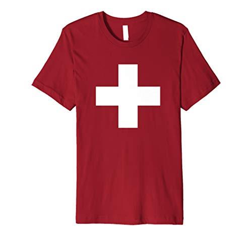 - Switzerland Flag TShirt Cool Swiss Flags Schweiz Suisse Gift Premium T-Shirt