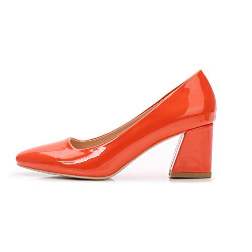 Tacón Talón del Zapatos Naranja Alto Cm Luz De Pie GAOLIM Negra Profesional Singles De Mujer Alto Puso 8 Femeninos 5 Un Zapatos Alto De Tacón Zapatos Cuadrado wHAFxtt50q