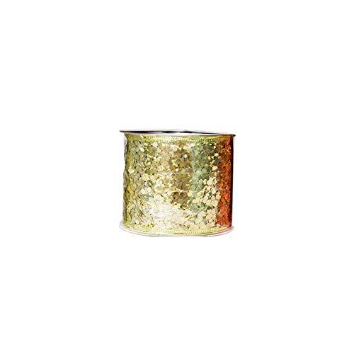 (dezirZJjx Christmas Bowknot, Glittering Christmas Bowknot Ribbon Tree Ornament Festival Party Decoration - Golden)