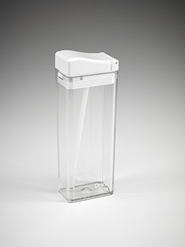 Precidio Design 1912WHCL Juice Container 12oz Clear/White