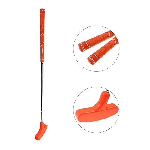 CRESTGOLF 29 inches Double-Way Rubber Golf Putter ,Regular,Right&Left Handed (orange)