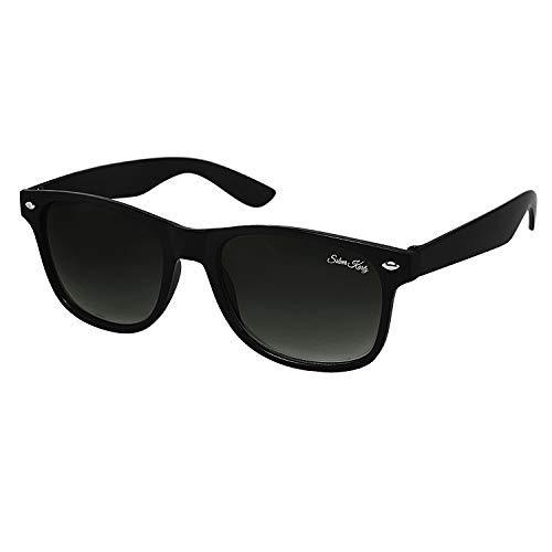 Silver Kartz Black Double Gradient UV Protection Wayfarer Unisex Sunglasses