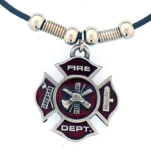 Leather Cord Necklace - Maltese Cross