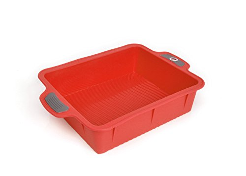 Bakeware Silicone Roast Pan, Gela Cake Molds For Baking, The Ideal Choice For Cakes And More - Roast Pan Red (Silicone Roast)