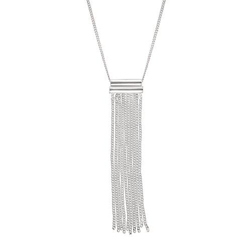 Silpada 'Modern Fringe' Sterling Silver Pendant, 16+2