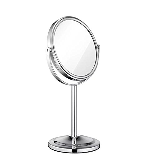 Concave Legs (Brendacosmetic 360¡ãRotating Double-side Round 1X and 2X Magnifying Vanity Mirror Makeup Mirror Cosmetic Mirror ,Mini Portable Makeup Mirror Desktop Mirror Essential for Bedroom)