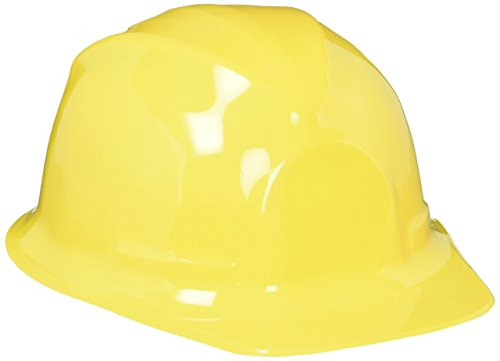 "Rhode Island Novelty Children's Dress Up Soft Plastic Construction Hard Hats Accessory for Kids Building Construction Themed Party Favors Toys, Yellow, 12 Pack, 10"" x 5.5"" x (Plastic Construction Hat)"
