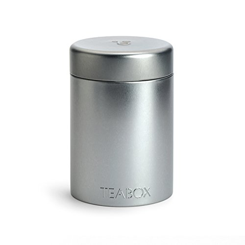 Teabox - Round Tin (Silver) | Holds 100g of tea (Loose Leaf Tea Storage Containers compare prices)