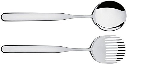 Alessi Collo-alto Salad Set in 18/10 Stainless Steel Mirror Polished