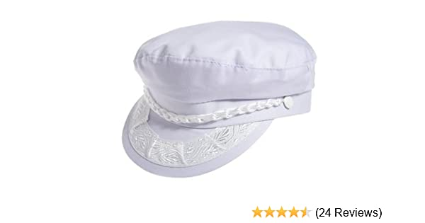 Aegean Authentic Greek Fisherman s Cap - Cotton - White at Amazon Men s  Clothing store  Newsboy Caps 51774b9d0b6