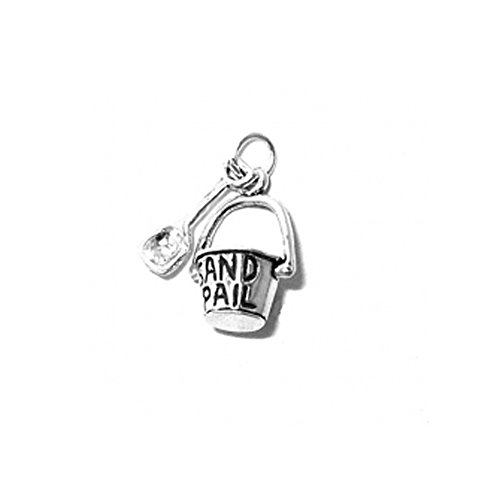 Sterling Silver 3D Moveable Sand Pail and Shovel Charm Item #3416 ()