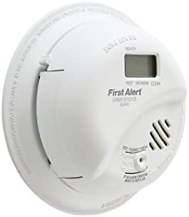 First Alert BRK CO5120PDBN Hardwired Carbon Monoxide CO Detector with Digital Display and Battery Backup