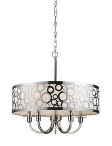 Elk Deco Art Chandelier (Elk 31026/5 Retro via 5-Light Chandelier In Polished Nickel)