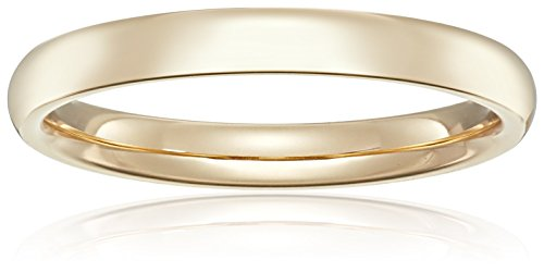 Standard Comfort Fit 18K Gold Wedding Band, 3mm