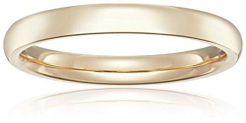 Standard Comfort Fit 18K Gold Wedding Band, 3mm