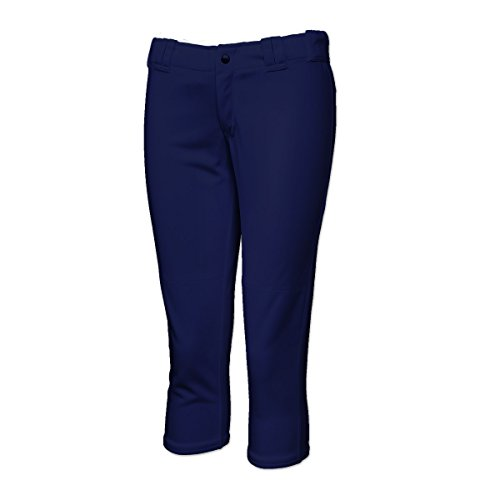 Youth Micro Poly Pant - 3N2 Womens Girls/Youth Softball Pants, Navy Blue, XS (2645L-03-XS)