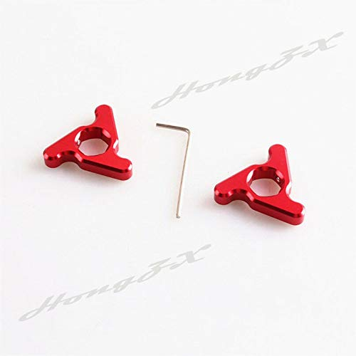 FidgetKute 14mm Fork Preload Adjusters Set Fit 675 Street Triple R 2009 Red