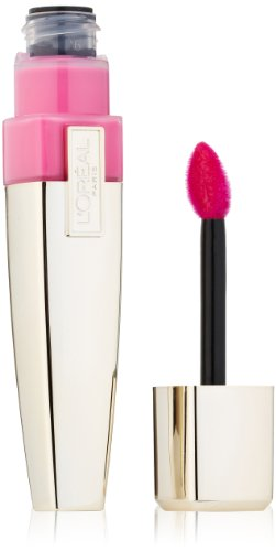 L'Oreal Paris Colour Caresse Wet Shine Lip Stain, Pink Rebellion, 0.21 Ounces
