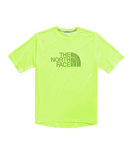 The North Face Men's Short Sleeve Half Dome Reaxion Tee, Safety Green, Size L