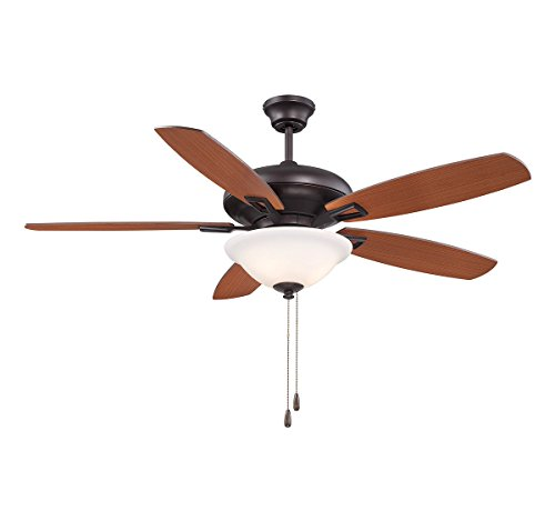 Indoor Ceiling Fans 3 Light with English Bronze Finish Candelabra Bulbs 52 inch 180 Watts