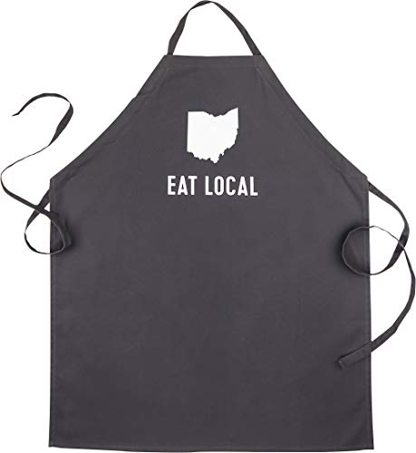 About Face Designs State of Mine-Ohio Apron, Black ()