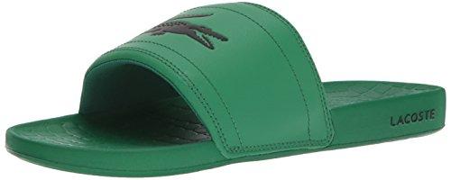 Lacoste Men's Fraisier Slides 118, Green/Black synthetic, 12 M US (Men Watch For Lacoste Green)