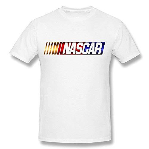 - Mens NASCAR Logo Shirts Short Sleeve Shirt Summer T-Shirt for Men/Big Boys Sport Comfort Tops Plus Size White M