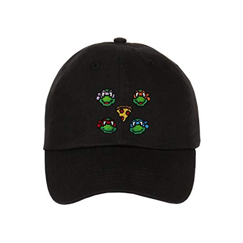 Floral, Bandana, Animal Skin & Custom Embroidered - Snapbacks (Ninja Turtle Black)]()