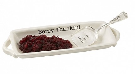 (Berry Thankful Cranberry Dish with Server)