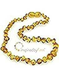 Polished Golden Swirl Amber Necklace (13''-14'')
