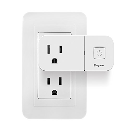 Faryuan Smart WiFi Outlet with USB Charger 5V 2.1A, Compact Remote Socket, Compatible with Alexa ,Google Home(1 pack)