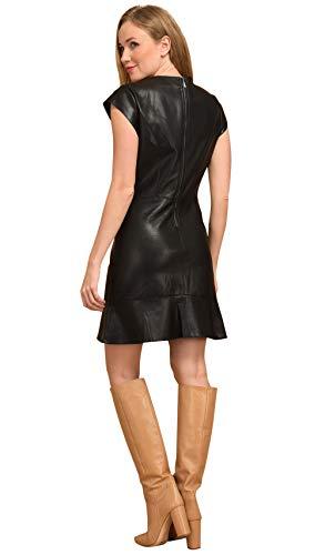 101 Imprimé Femme Similicuir En Noir Idees Longues Manches Robe 7zgqw7aCr