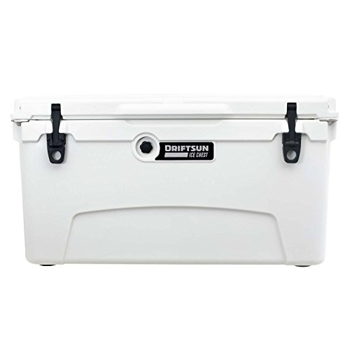 (Driftsun 75 Quart Ice Chest, Heavy Duty, High Performance Roto-Molded Commercial Grade Insulated Cooler, White)