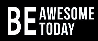 Be Awesome Today Wall Mirror White Decal Vinyl Sticker Cars Trucks Vans Walls Laptop  White  7.5 x 2.5 (Hulk Facts For Kids)