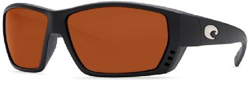Costa Del Mar Tuna Alley Sunglasses, Matte Black/Copper 580 Plastic - Tuna Costa Alley