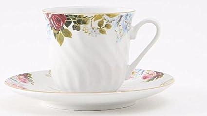 Amazon.com | 6 Philomena Inexpensive Bulk Discount Porcelain Tea ...