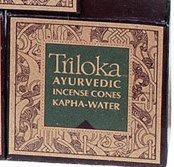 Triloka Ayurvedic Meditation Incense Cones - Kapha - Green Cones
