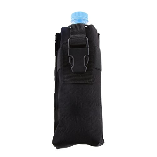 Generic MOLLE Beutel Rucksack Schulrucksack Freizeitrucksack Sporttasche Wasserfest für Sprechanlage Handy Gelbbeutel PC Tablet - Schwarz