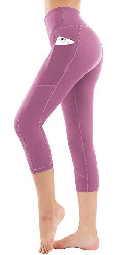 HOFI High Waist Capri Leggings for Women Side & Inner Pockets with Tummy Control Sports Yoga Pants
