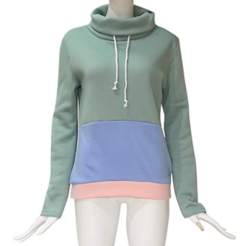 Mode Chemisier Tops Subfamily Chic Casual Femmes Hiver Femme Hoodie Capuche Sport Manteau Pull Blouse Bleu Sweat vSr8Ov