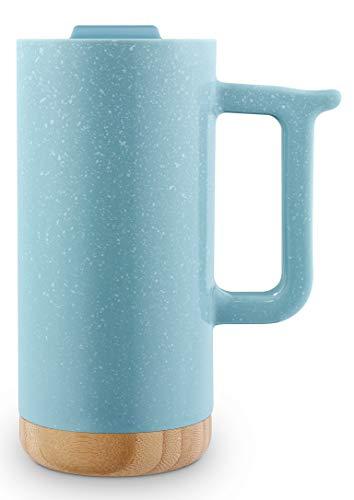 Ello Aspen 16oz Ceramic Travel Mug (Dusty Blue Speckle) ()