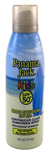 Panama Jack Continuous Spf#50+ Clear Spray Kids 6 Ounce (177ml) by Panama Jack