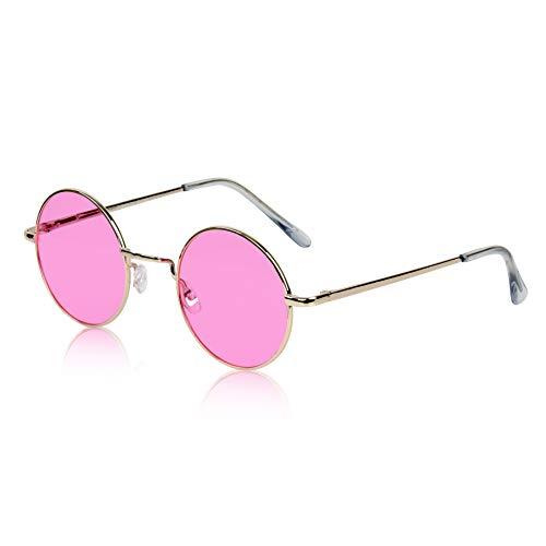 Women's Round Sunglasses for Women Cute Fun 70s 60s Glasses Shades Teen Hot ()