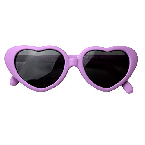 Sweetheart- Best First Sunglasses for Infant, Baby, Toddler! 100% UV Protection. Many Colors and Sizes! (Infant (0 Year) 105mm, Fuchsia 105mm - Polarized with No Strap (1 Pair))