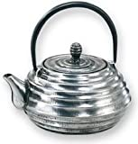 Old Dutch Silver Cast Iron Japanese Tetsubin Teapot