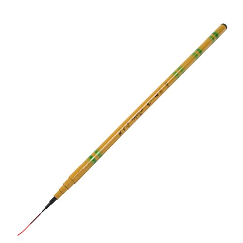 uxcell 2.15M Length 8 Sections Freshwater Telescoping Fishing Pole Rod Yellow For Sale