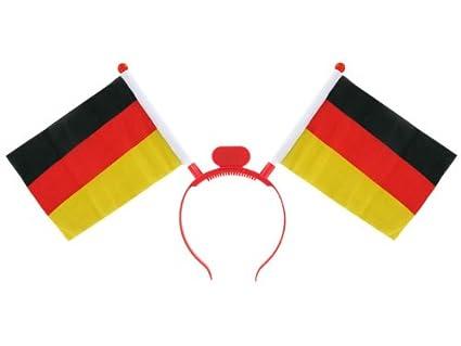 Alsino Deutschland Fanartikel Fan-Artikel Fu/ßball EM WM Hut Brille Per/ücke Fahne Fanartikel w/ählen:CAX-DE02 Caxirola