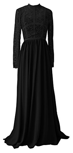 TalinaDress Sheer Womens Prom E288LF Gown Black Chiffon Lace Bridesmaid Dress Long rwZTqaIgr