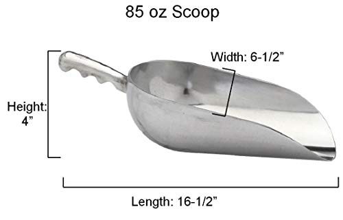 85oz Cast Aluminum Metal Scoops Ice Candy Buffet Kitchen,1 Scoop Tkcompany from Unknown